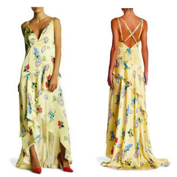 5ca9093b10df New L Atiste by Amy Asymmetrical Floral Maxi Dress
